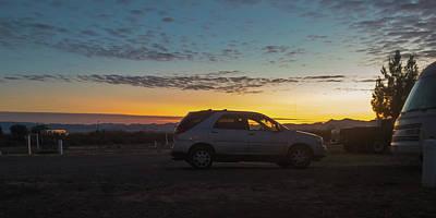 Photograph - Rv Park At Sunrise In Arizona by Tatiana Travelways