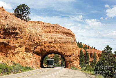 Rv Red Canyon Tunnel Utah Art Print