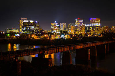 Photograph - Rva Alive At Night by Aaron Dishner