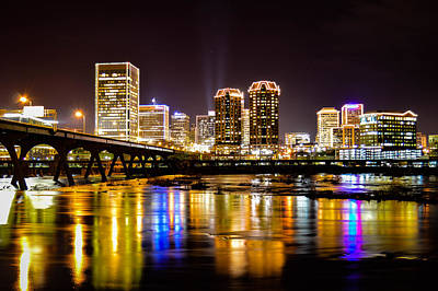 Photograph - Rva Holiday Skyline 3 by Aaron Dishner