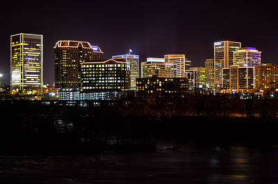 Photograph - Rva Holiday Skyline by Aaron Dishner