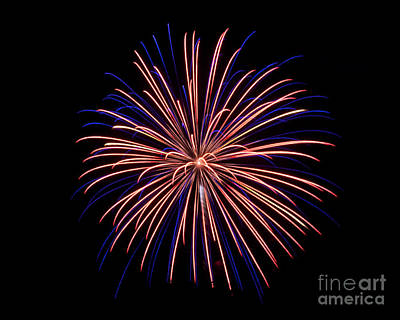 Rvr Fireworks 48 Art Print by Mark Dodd