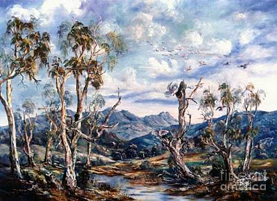 Painting - Rwetyepme, Mount Sonda Central Australia by Ryn Shell