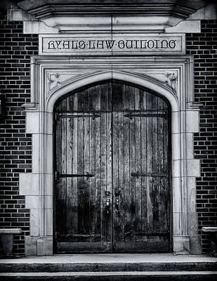 Carter Photograph - Ryals Law Building Door - Mercer University by Stephen Stookey