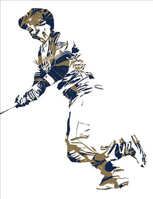 Ryan Braun Milwaukee Brewers Pixel Art 4 Art Print