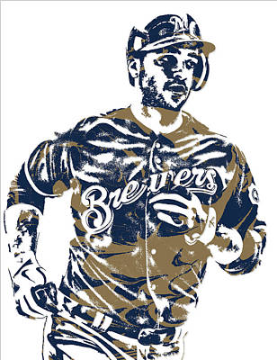Ryan Braun Milwaukee Brewers Pixel Art 6 Art Print