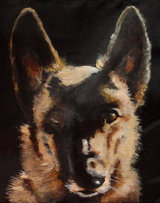 Dog Close-up Painting - Ryan by Carol Russell