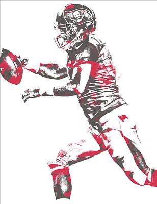 Mixed Media - Ryan Fitzpatrick Tampa Bay Buccaneers Pixel Art 5 by Joe Hamilton