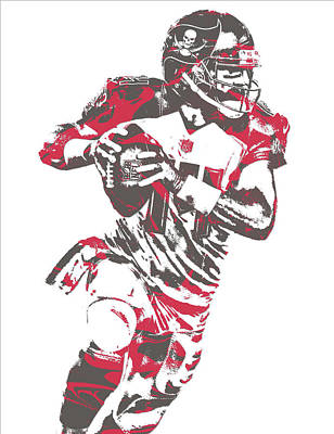 Mixed Media - Ryan Fitzpatrick Tampa Bay Buccaneers Pixel Art 6 by Joe Hamilton