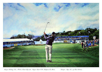 Painting - Ryan Fox At The Tayto Northern Ireland Open 2016 by Mark Robinson