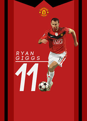 Wayne Rooney Digital Art - Ryan Giggs by Semih Yurdabak
