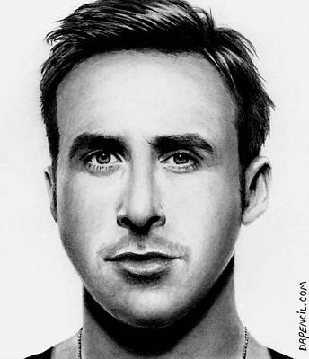 Drawing - Ryan Gosling  by Rick Fortson