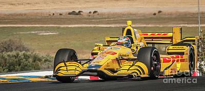 Andretti Photograph - Ryan Hunter-reay by Webb Canepa