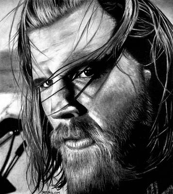 Drawing - Ryan Hurst As Opie by Rick Fortson