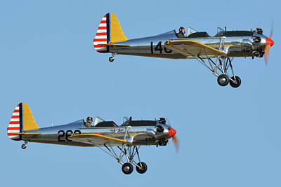 Ryan Pt-22 N48777 146 And Pt-22 N48742 269 Chino California April 29 2016 Art Print by Brian Lockett