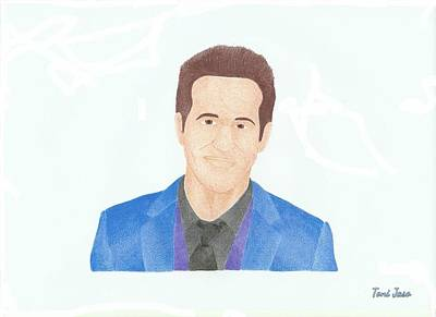 Dc Universe Drawing - Ryan Reynolds by Toni Jaso