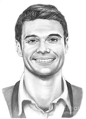 American Idol Drawing - Ryan Seacrest by Murphy Elliott