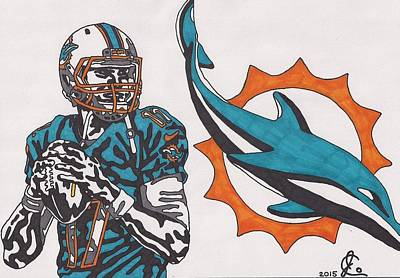 Drawing - Ryan Tannehill  by Jeremiah Colley