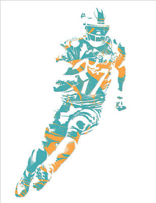 Miami Mixed Media - Ryan Tannehill Miami Dolphins Pixel Art 4 by Joe Hamilton