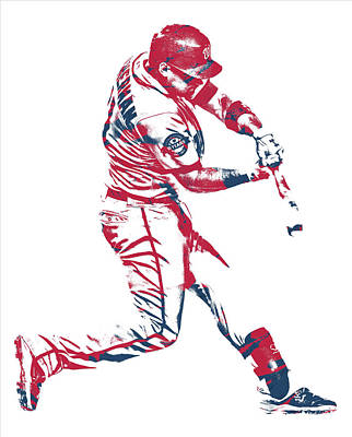 Mixed Media - Ryan Zimmerman Washington Nationals Pixel Art 10 by Joe Hamilton