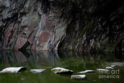 Photograph - Rydale Cave Stepping Stones by Gavin Dronfield