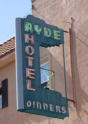 Ryde Hotel Sign Art Print by Troy Montemayor