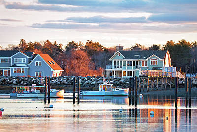 Photograph - Rye Harbor Winter Sunset by Eric Gendron