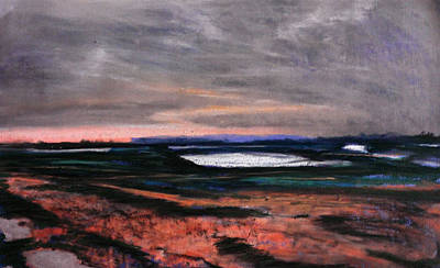Drawing - Rye Harbour Pastel 1 by Paul Mitchell