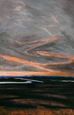 Drawing - Rye Harbour Pastel 3 by Paul Mitchell
