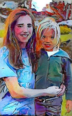 Digital Art - Rylee And Lucca by Richard Laeton