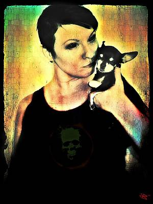 Chihuahua Digital Art - Ryli And Chi-chi 1 by Mark Baranowski