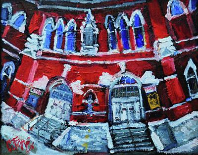 Painting - Ryman Auditorium by Carole Foret