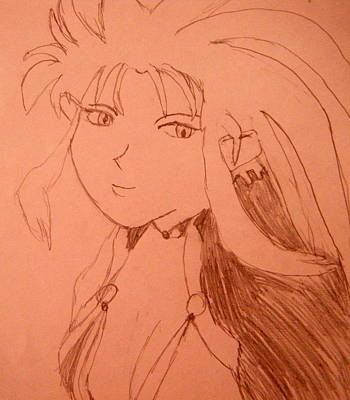 Animation Drawing - Ryoko by April Patterson