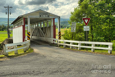 Photograph - Ryot Covered Bridge Dirt Road by Adam Jewell