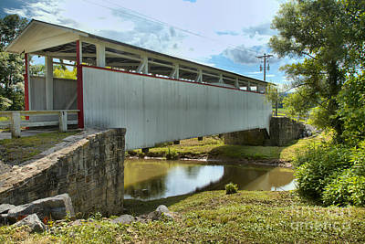 Photograph - Ryot Covered Bridge Over Dunnings Creek by Adam Jewell