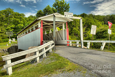 Photograph - Ryot Covered Bridge Summer Landscape by Adam Jewell