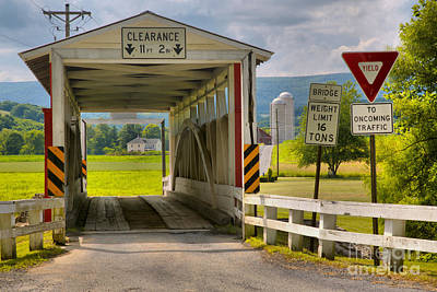 Photograph - Ryot One Lane Covered Bridge by Adam Jewell
