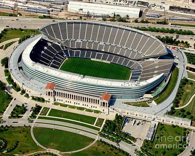 S-004 Soldier Field Close Up Chicago Illinois Art Print by Bill Lang