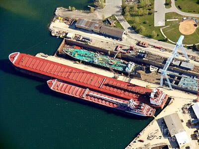 Photograph - S-057 Sturgeon Bay Wisconsin Ship At Dock by Bill Lang