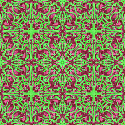 Digital Art - S A T -day- -multi-pattern- by Coded Images