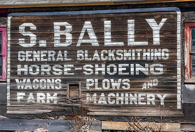 Small Town Life Photograph - S Bally Ghost Sign by Paul Freidlund