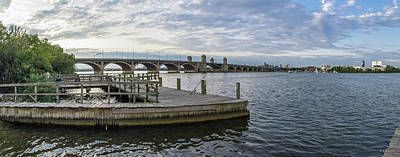 Photograph - S Baltimore Fishing Pier - Pano by Brian Wallace