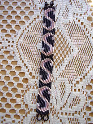 Delica Beads Jewelry - S Design Beaded Bracelet by Yvette Pichette