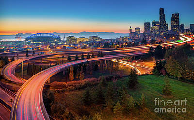 Puget Sound Photograph - S For Seattle by Inge Johnsson