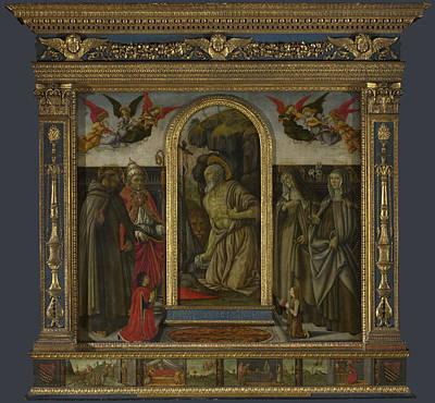 Digital Art - S Gerolamo Altarpiece by Francesco Botticini