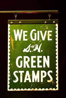 Photograph - S H Green Stamps by Rospotte Photography