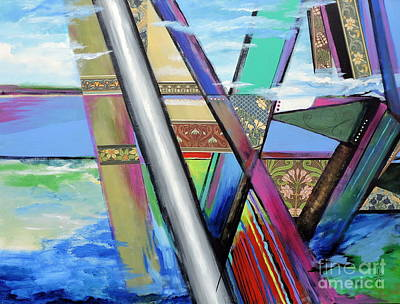 Mixed Media - S/he Bridges by Jodie Marie Anne Richardson Traugott          aka jm-ART