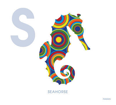 Seahorse Digital Art - S Is For Seahorse by Ron Magnes