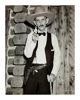 Photograph - S P Elkins Oldest Known Texas Ranger 1935 by Peter Gumaer Ogden Collection