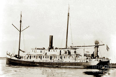 Photograph - S. S. Del Norte Circa 1900 by California Views Mr Pat Hathaway Archives